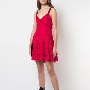 Cinq a sept livia silk ruffle dress